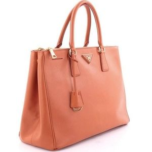 Prada Double Zip Tote Saffiano Leather Large